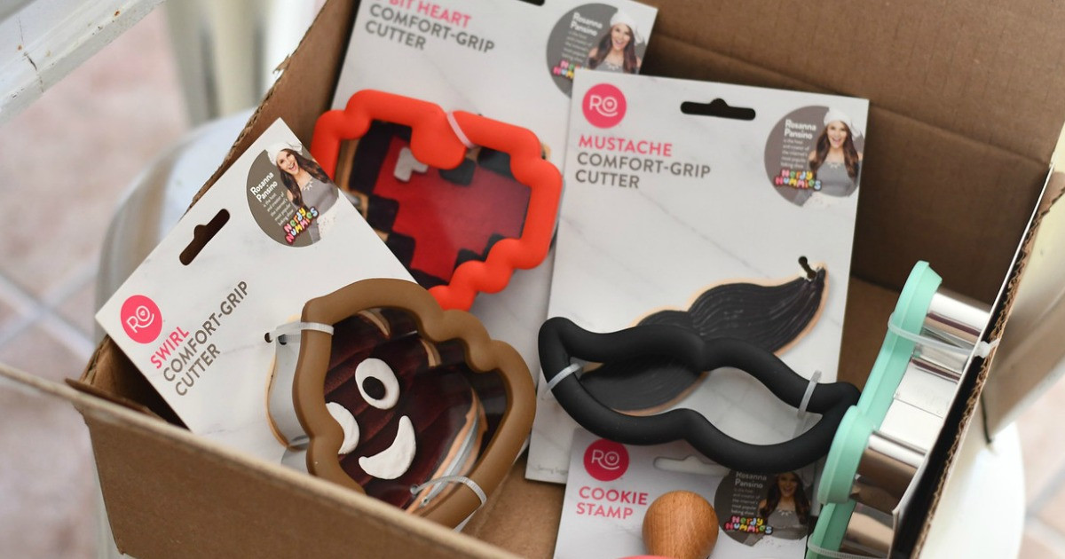 Comfort Grip Cookie Cutters in a box