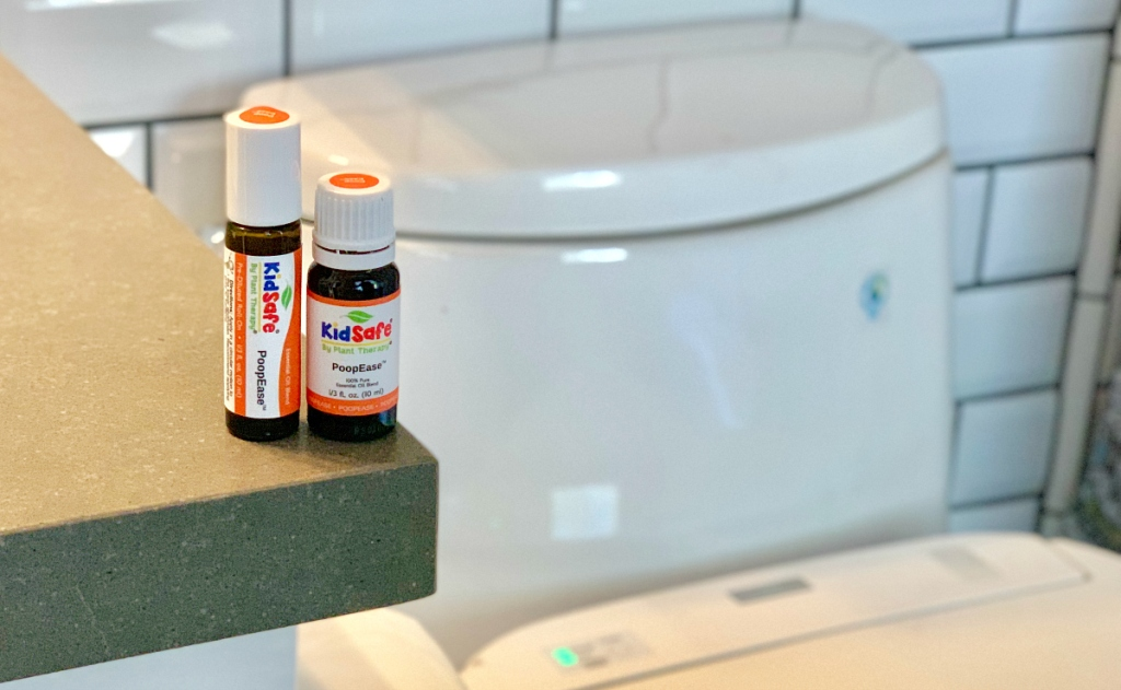 KidSafe PoopEase products on counter