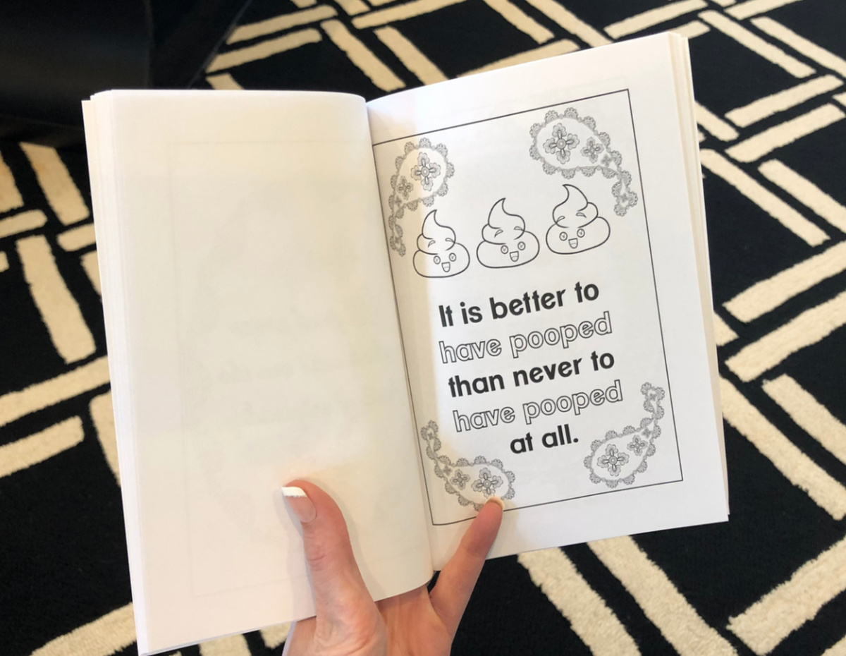 an open coloring book page