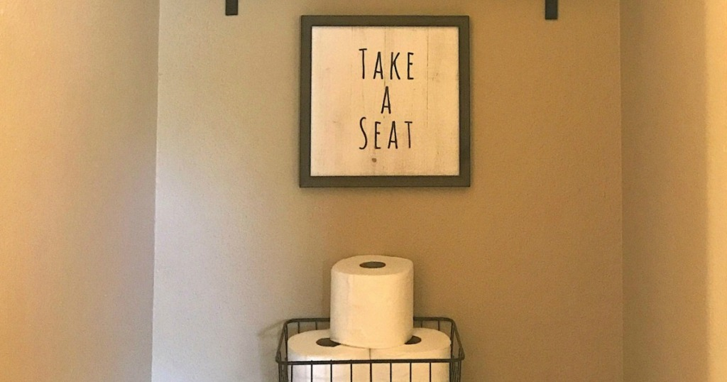 Take A Seat Bathroom Sign