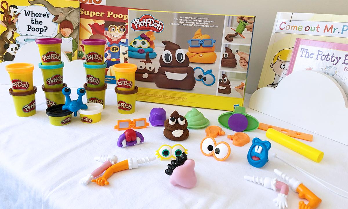 poop play-doh set — accessories in the poop play-doh set