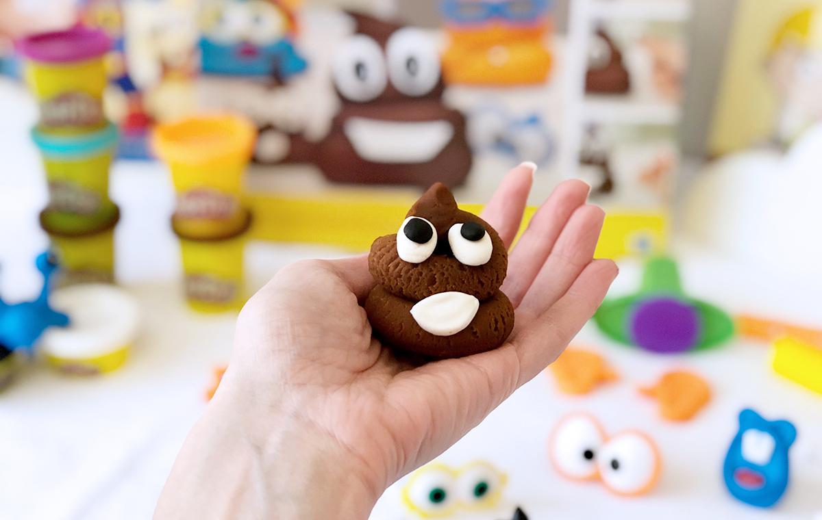 poop play-doh set — poop swirl made from brown play-doh